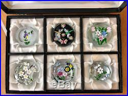 J Glass John Deacons European Paperweight Collection Signed in original Box