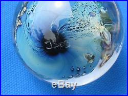 JOSH SIMPSON INHABITED PLANET SPHERE Blues, Flower Satellite, 1 7/8, 2003