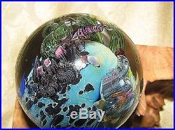 JOSH SIMPSON INHABITED PLANET SPHERE Purple Cane Spaceship, 1 7/8, 2003, Stand