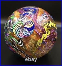 James Alloway Art Glass GIANT Paperweight Early 2004 #4 Gaffers Revenge 3.38