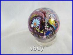James Alloway Art Glass Marble 2.5 Paperweight Gaffer's Revenge #43 MINT