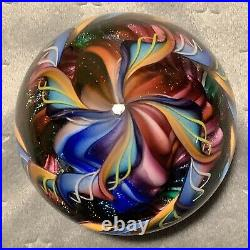 James Alloway Art Glass Paperweight 2 11/16 Signed #310 2009 GORGEOUS