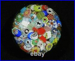 James Hart Silhouette Millefiori Scatter End of Day Encasement Paperweight 11-13