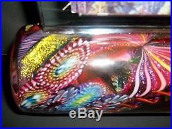 James Nowak Art Glass Stunning Kaleidoscope Picture Frame Paperweight Vase