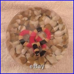 Joe zimmerman snake sulphide paperweight (St. Clair / Rice)