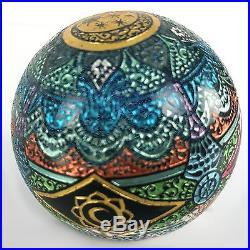 Joei Masataka Mandala of Sun and Moon paperweight Borosilcate Art Glass Marble