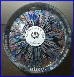 John Deacons Millefiori Paperweight Magnum Bunch of Flowers & Silhouette Canes