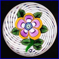 John Deacons Multi-Colored Fantasy Flower on Spiral Latticinio on Piedouche