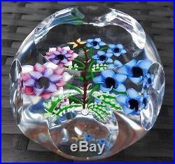 John Deacons St Kilda Stk Floral Bouquet Lampwork Millefiori Paperweight