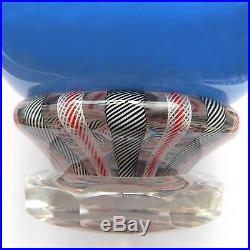 John Deacons magnum piedouche double overlay glass paperweight / presse papiers