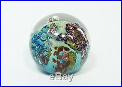 Josh Simpson 3 Inch Art Glass Planet Paperweight