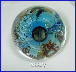 Josh Simpson 3 Inch Art Glass Planet Paperweight