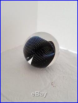 Josh Simpson Gravitron B Planet 3 Paperweight/Sphere Art Glass 3 Diameter