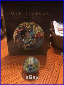 Josh Simpson Inhabited Planet Paperweight Signed Simpson 10-20-03