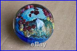 Josh Simpson Inhabited Planet Studio Paperweight Signed Numbered 2 3/4 Inch Nice