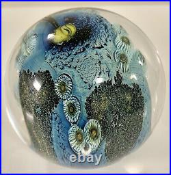 Josh Simpson Paperweight Art Glass Inhabited Planet SIGNED NUMBERED Rare