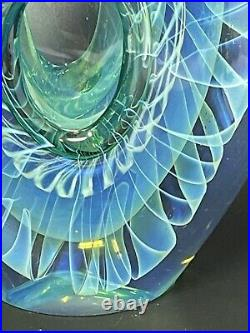 Karnig Dabanian Veiled Art Glass Sculpture/paperweight Signed 1989