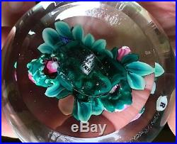 Ken ROSENFELD Large Paperweight withFull 3-D Spherical Bouquet