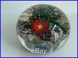 Ken Rosenfeld Christmas Cactus Desert Scene Paperweight 1996 Signed EC