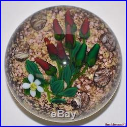 Ken Rosenfeld's Chili Pepper Bouquet on Desert Base Glass Paperweight