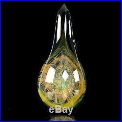Kenan Tiemeyer Radiant Light Teardrop Paperweight Borosilcate Art Glass Marble