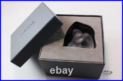 LALIQUE NU SAGE FROSTED CLEAR CRYSTAL WISE NUDE POSE FIGURINE PAPERWEIGHT with BOX