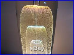 LARGE 1980's Signed Robert Stephan Art Glass Veiled Sculpture 8 1/2