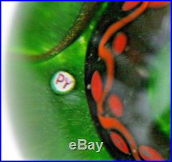 LARGE Awesome PAUL YSART Art Glass SNAKE PEDESTAL Base PAPERWEIGHT