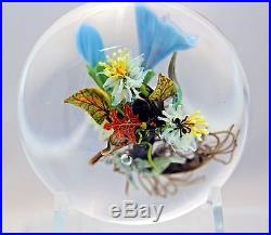 LARGE Beautiful STANKARD Maple LEAF Floral ROOT Spirit & ANT Glass PAPERWEIGHT