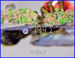 LARGE Exquistie GORDON SMITH Colorful CLOWN FISH Art Glass AQUARIUM Paperweight