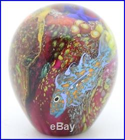LARGE Marvelous PETER RAOS Tropical FISH AQUARIUM Art Glass PAPERWEIGHT 3.8