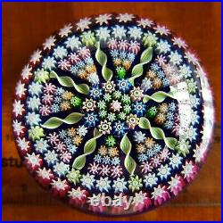 LARGE VTG Perthshire Scotland Art Glass Millefiori Large 3 paperweight Signed