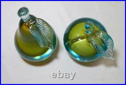 LARGE vintage Salviati Murano hand blown art glass fruit bookends paperweights
