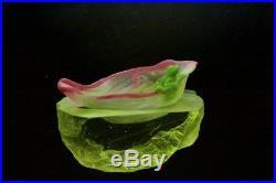 LIULIGONGFANG Crystal frog on lotus NewWorkShop LT ED Paperweight(box & paper)