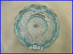 Lovely Boxed Signed 1971 Whitefriars Millefiori Glass Multi Faceted Paperweight