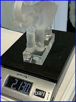 Lalique Elephant Figurine Paperweight 11801 6x6
