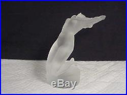 Lalique France Chrysis Frosted Art Glass Nude Woman Paperweight Figure #11809