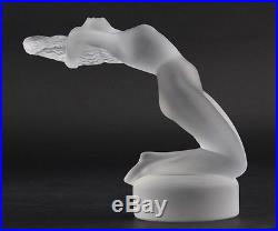 Lalique France Crystal Chrysis Nude Woman Art Glass Paperweight Figurine NR LMH