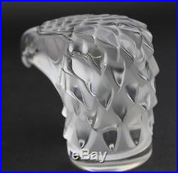 Lalique France Tete D Aigle Eagle Bird Mascot Art Glass Paperweight Figurine SMS