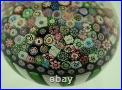 Large Antique Clichy Paperweight, Closepack, center rose