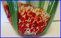 Large Art Glass Saguard Cactus Vase Signed Beyers and Labeled Orient & Flume 12#