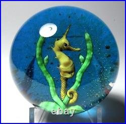 Large Baccarat 1975 Limited Edition Sea Horse Paperweight