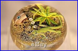 Large & COOL Jim D'ONOFRIO Green LIZARD Cactus DESERT Art Glass PAPERWEIGHT