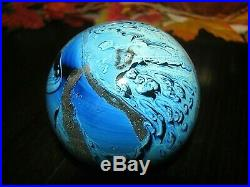 Large JOSH SIMPSON NEW MEXICO POSSIBLY INHABITED PLANET PAPERWEIGHT Blues, 3