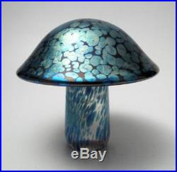 Large John Ditchfield Glasform Iridescent Art Glass Mushroom Paperweight British