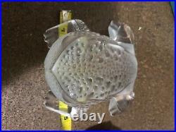 Large Lalique France Crystal Gregoire Toad Frog Figurine