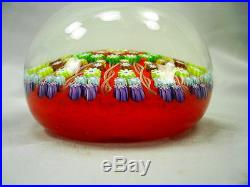 Large Perthshire Paperweight Millefiori, Cartwheel, Twisted Spokes