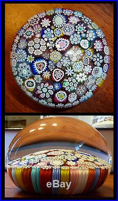 Large Peter McDougall Paperweight Stunning Canes