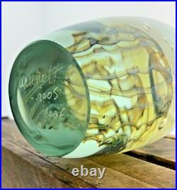 Large Signed Robert Eickholt Jellyfish Art Glass Paperweight 2005