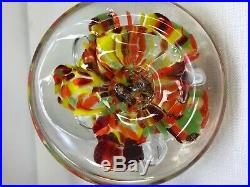 Large Zimmerman Art Glass Signed Jar/Dish/Bowl With Lid Paperweight 1989 7